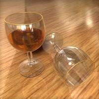 glasses party alcoholic c4d