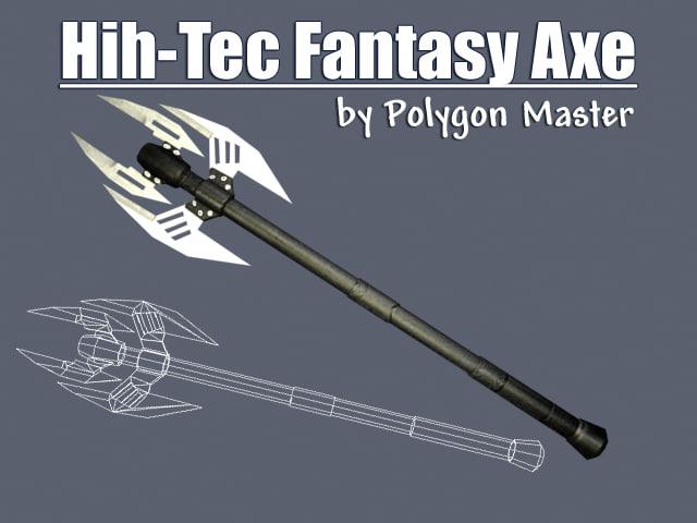 3d battle axe model
