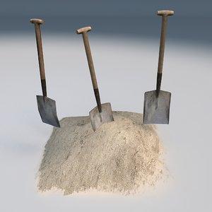 shovel level 3d model