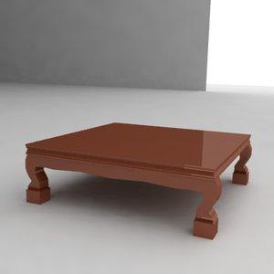 3d table japanese