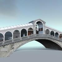 3d ponte rialto model