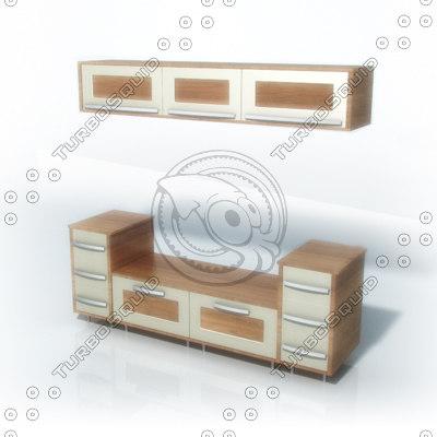 tv units 3d model