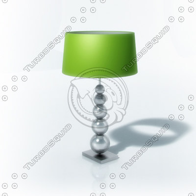 modern lamp 3d lwo