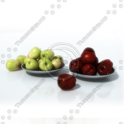 bowls apples 3d lwo