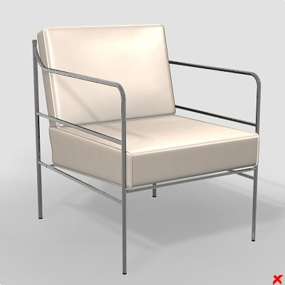 3d model armchair chair