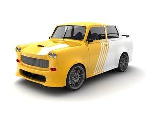 trabant tuning 3d model