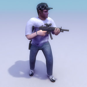 3d model undercover police games