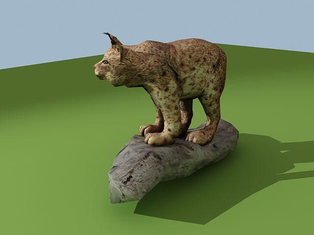 3d lynx cat model