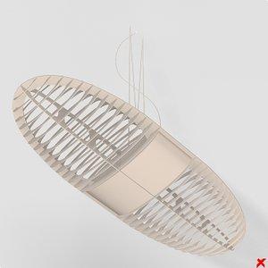 3d model lamp hanging