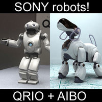 Sony robots - Aibo + Qrio