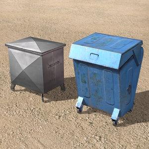 3ds max arab city element dumpster