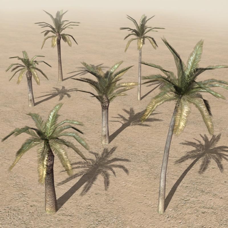 arab city palm elements 3d 3ds