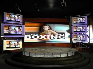 virtual television studio 3d model