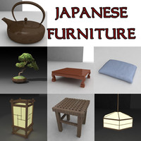 japan furniture japanese 3d model