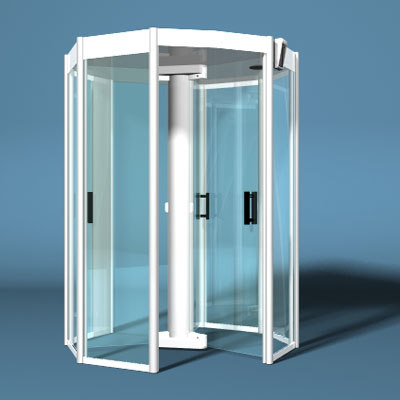 revolving door metal detector 3d lwo