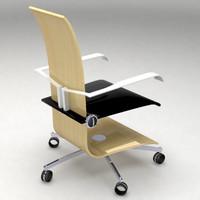 3d original office chair model