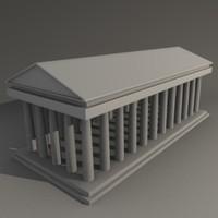 3d doric temple
