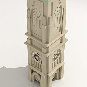 church cathedral tower 3d model