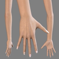 Female hand and arm