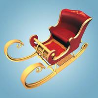 3d santa sledge