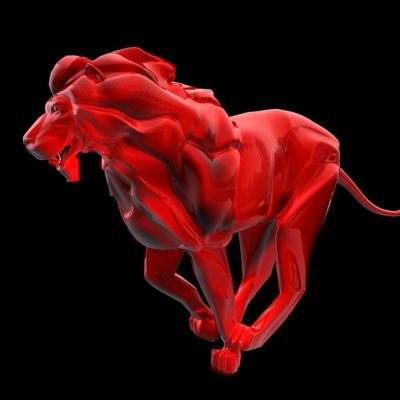 3dsmax metalic lion