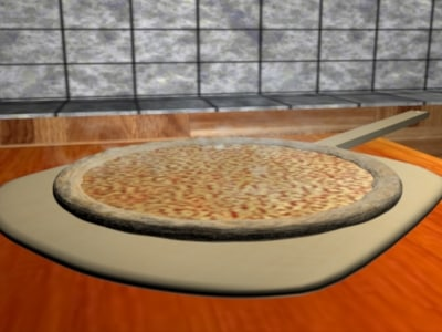 3d model cheese pizza kitchen