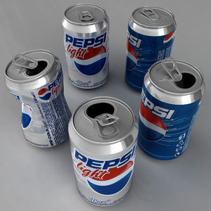 pepsi aluminum cans 3d model