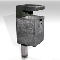 public trashcan 3d model