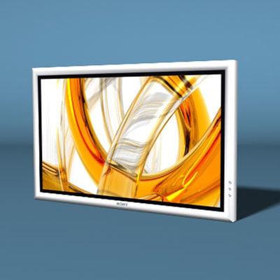 3d widescreen plasma television s1