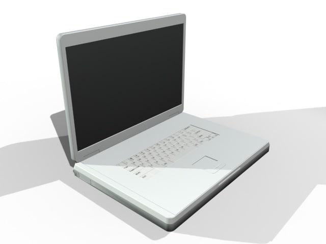 17 laptop notebook 3d model