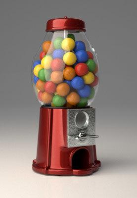 3d res gumball machine
