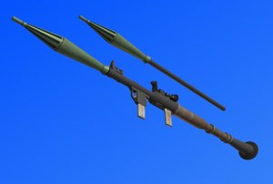 rocket propelled grenade launcher 3d model