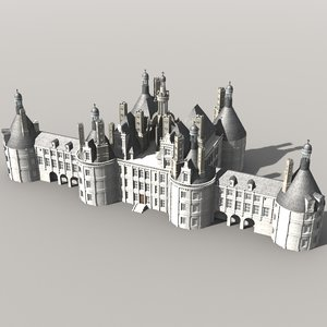 3ds max chambord castle