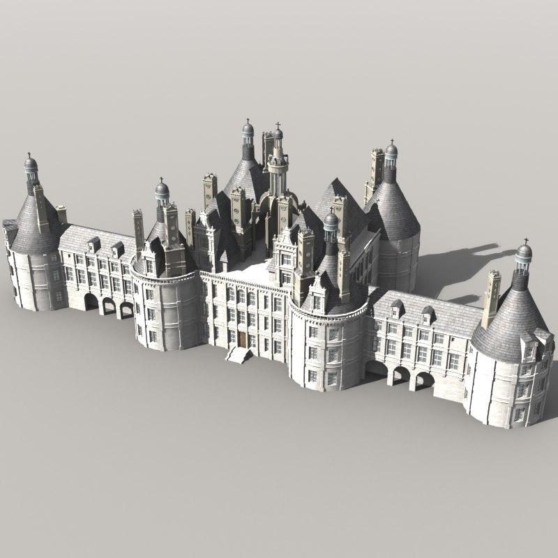 3ds max chambord castle