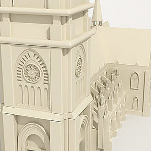 church cathedral bulding 3d 3ds