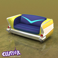 3d model chevy couch