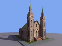 Low Poly Small Church 3D Model