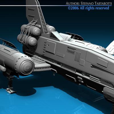 c4d spaceship fighter