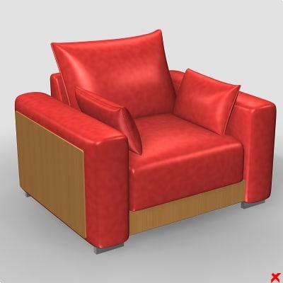 armchair chair 3d model