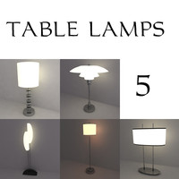 table lamps 3d 3ds