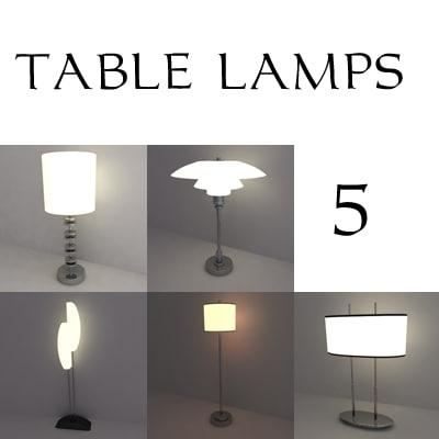 table lamps 3d 3ds