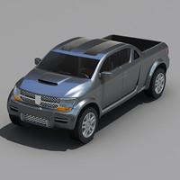 3d model dodge rampage concept