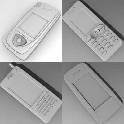 cell phones 3d dxf