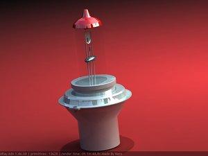 halogen lamp 3d model