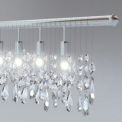 3d chandelier crystal model