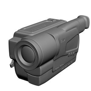 sony video camera 3d model
