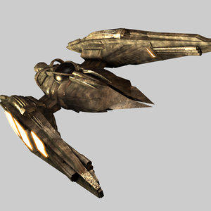 spaceship fighter spacecraft 3d c4d