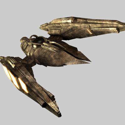 spaceship fighter spacecraft 3d c4d