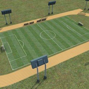 soccer field 3d lwo