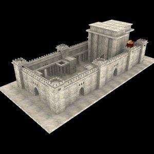 temple jerusalem century 3d model